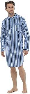 Mens Classic Brushed Cotton Nightshirt Sleepwear Nightwear Lounge Wear