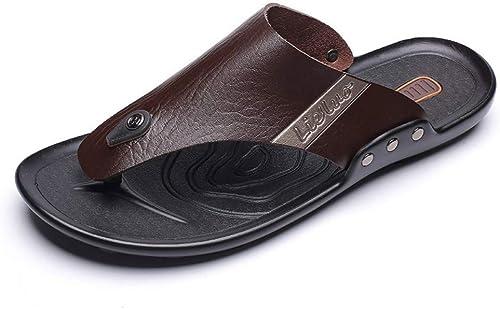 Yydt Chaussures pour Hommes Sports de Plein air Beach chaussures Tongs Nouvel été Personnalité Outdoor Outdoor Marée Homme De Mode Porter Une Génération Chaussures pour Hommes (Couleur   42 EU)