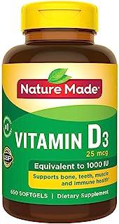 Nature Made Vitamin D3 1000IU, 650 Softgels