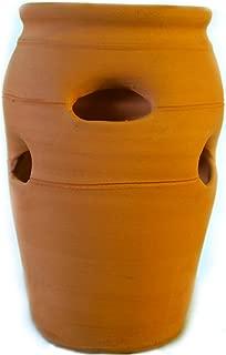 Craven Pottery #2 Classic Handmade Terra Cotta Clay Strawberry Jar Planter