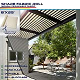 Windscreen4less Beige Sunblock Shade Cloth,95% UV Block Shade Fabric Roll 8ft x 25ft