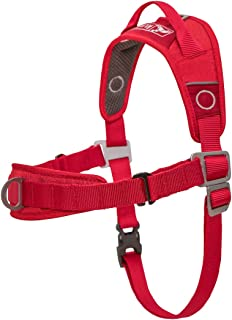 Kurgo Dog Harness | No Pull Training Pet Walking Harness | Harnesses for Dogs or Pets | Adjustable | Reflective | Easy Control | Walk About Training Harness | 5 Sizes | Red