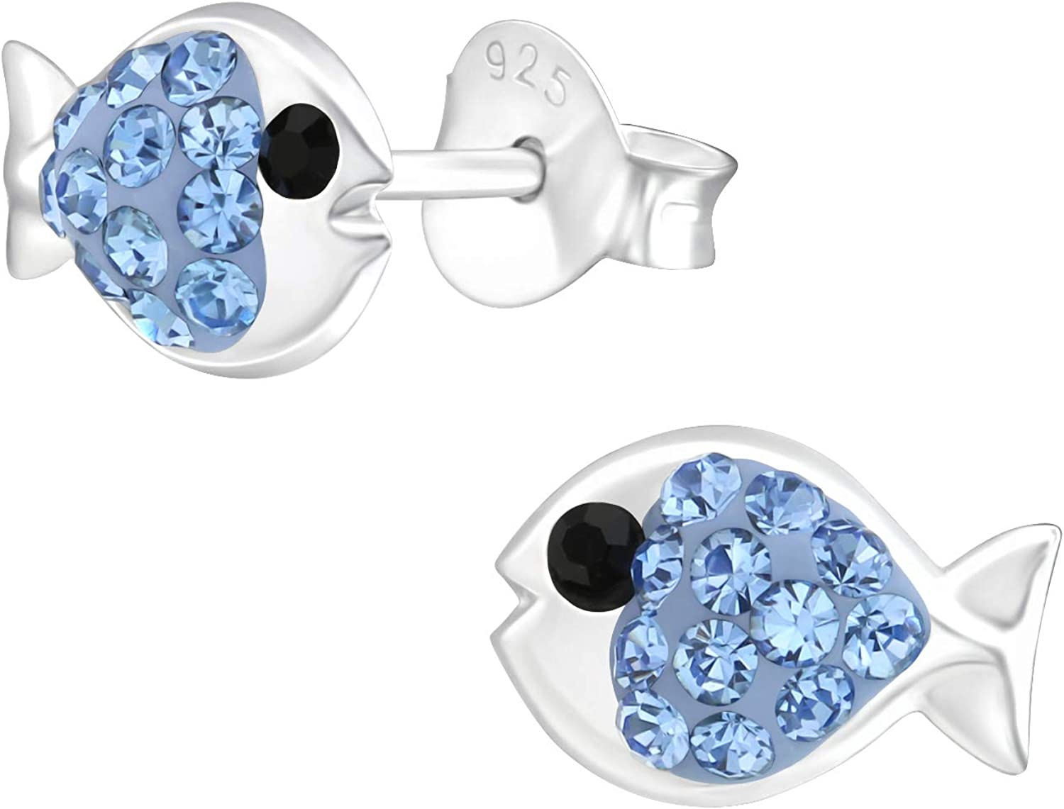 Blue Crystal Fish Stud Sale special price Box Earrings Gift with Inexpensive