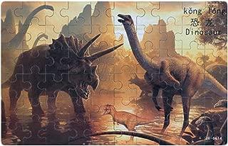 Kylin Express 60PCS Tin Box Jigsaw Puzzle Wooden Animal Puzzle Kids Intelligence Toys Dinosaur