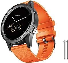 NotoCity Correa para Garmin Vivoactive 3, 20mm Repuesto de Correa Reloj de Silicona para Amazfit Bip Xiaomi/Forerunner 245/645 Samsung Galaxy Watch 42mm (L, Naranja)