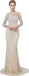 Luxury Crystals Beading Wedding Dress Mermaid Bridal Gown Evening Dresses Size 2 4 6 8 10 12 14