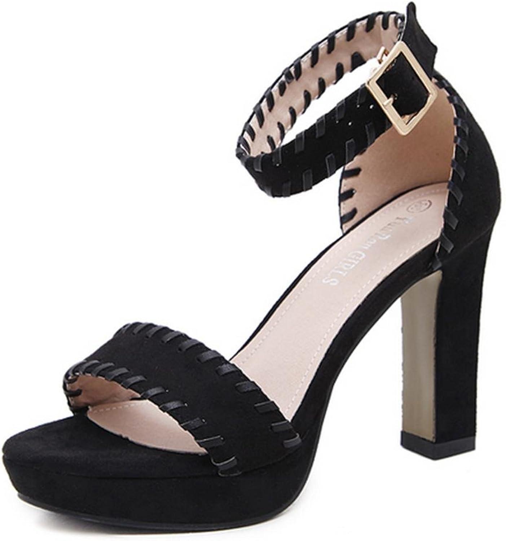Kitzen Frauen Sandalen Frauen-Plattform-Starke Fersen-Sandelholze Strappy-Absatz-Sommer-Schuhe