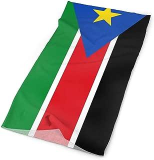 WEEDKEYCAT National South Sudan Flag Headwrap Unisex Multifunction Headwear Polyester Quick Dry Soft Headband Neck Scarf,Cool Headdress Travel Magic Head Scarf Bandana Mask Neck Gaiter Men Women