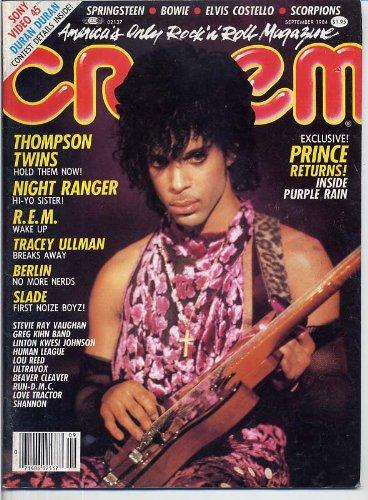 Creem Magazine PRINCE Slade SCORPIONS Motley Crue BERLIN Thompson Twins R.E.M. September 1984 C (Creem Magazine)