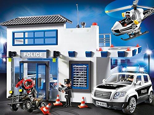 Poste de Police Playmobil 9372 Voiture Hélicoptère - 2