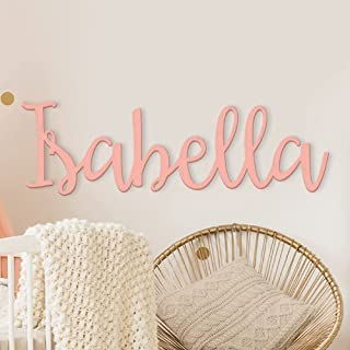 """Custom Personalized Wooden Name Sign 12-55"""" WIDE - Emma Font Letters Baby Name Plaque PAINTED nursery name nursery decor w..."""