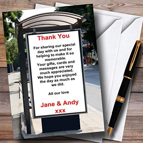 Unieke Grappige Bus Stop Advert Aankondiging Gepersonaliseerde Bruiloft Dank U Kaarten 80 Invitations