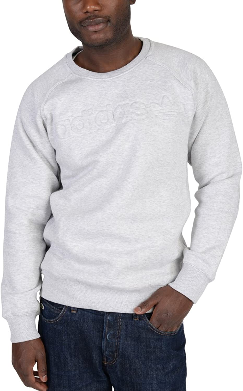 Adidas Premium Fleece Crew Neck Sweatshirt- Light Heather grau
