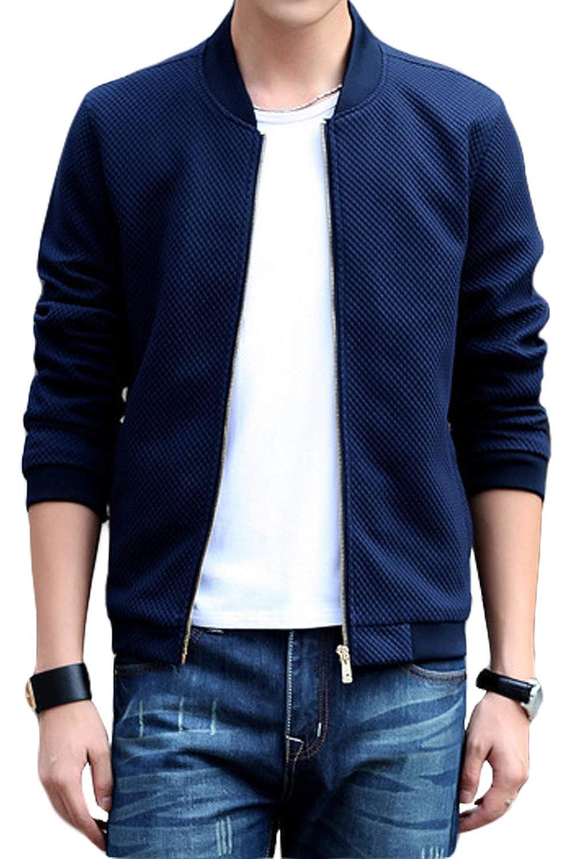 (アイコウシャ) AIKOSHA 9TH MA-1 ジャケット アウター ブルゾン メンズ 春 夏 秋 カジュアル ファッション シンプル オシャレ 襟なし