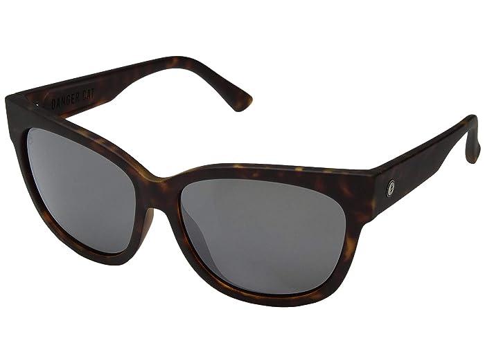 Danger Cat (Matte Tortoise/OHM Grey Chrome) Fashion Sunglasses