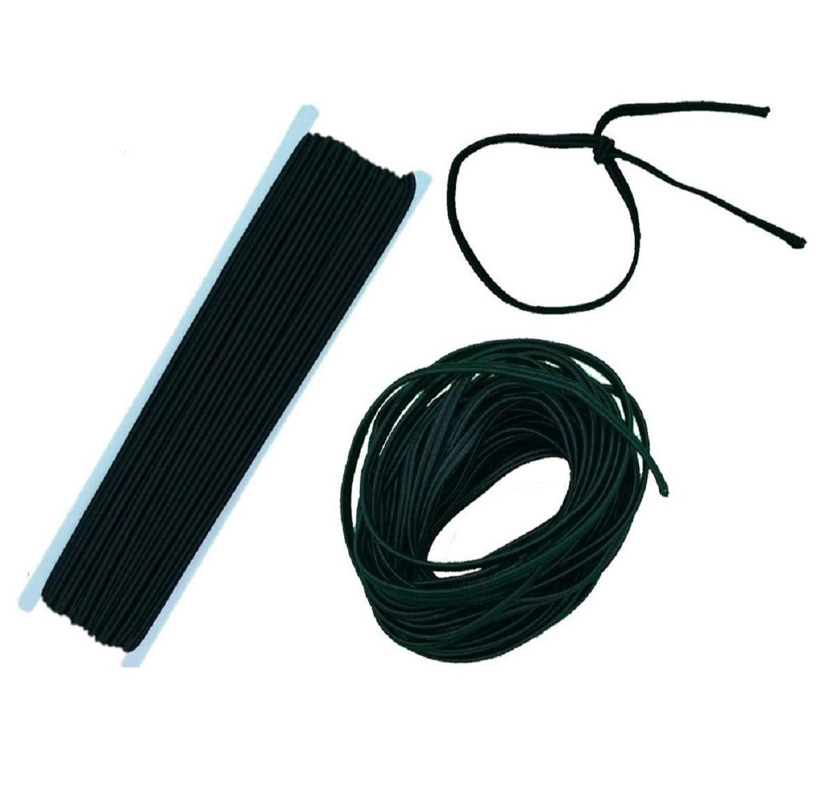 4mm Elastic Cord Useful For Diy Face Mask Elastic Black 20m