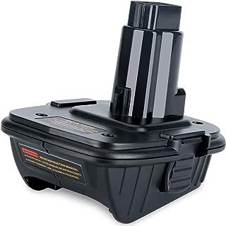 Qbmel Battery Adapter for 18Volt & 20Volt, Convert Dewalt 20V Lithium Battery DCB200 DCB205 for Dewalt 18V NiCad & NiMh DC9096 DW9096 DC9098 DC9099 DW9099 Battery