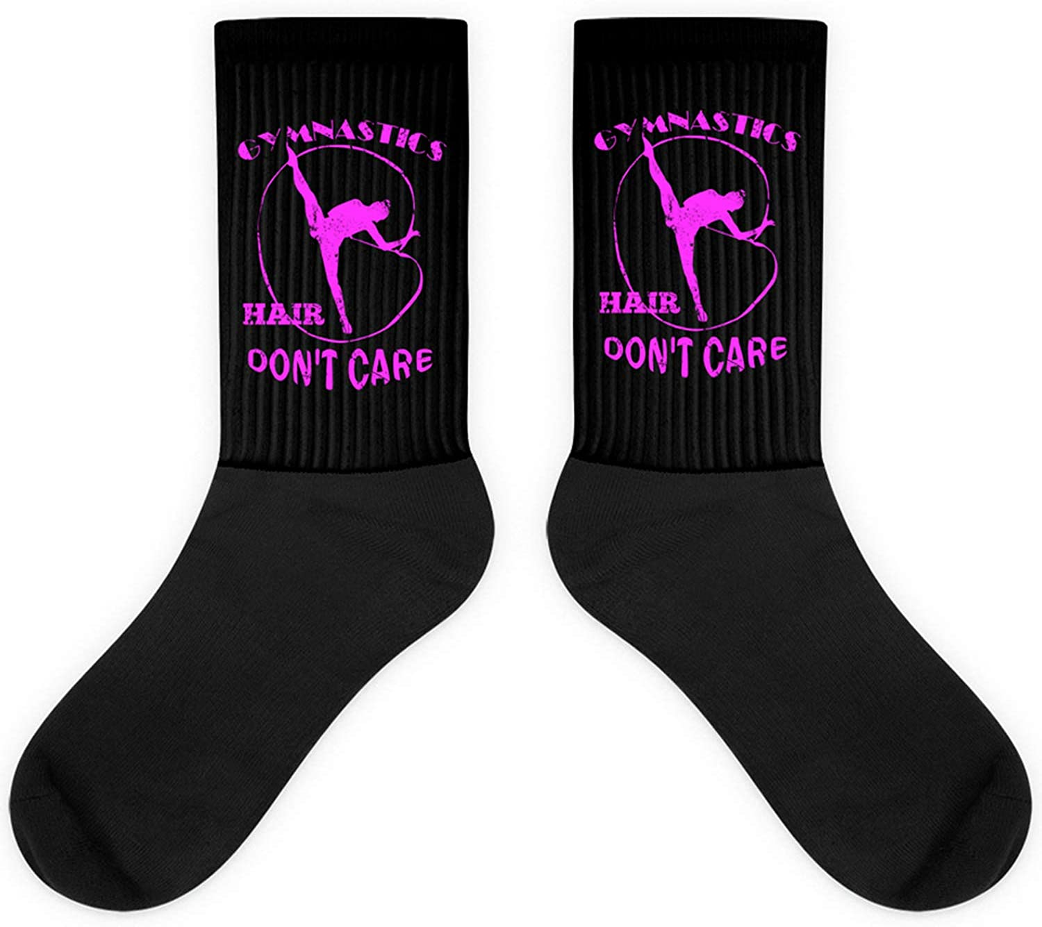 Gymnast Gift,Gymnastics Hair Don't Care,Student,Sports Gift Sock