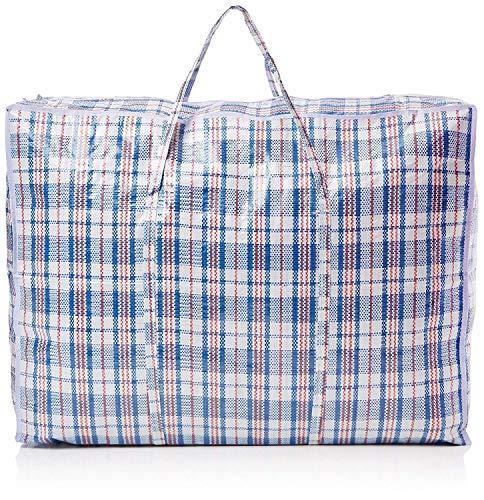Depory Paquete de 5 bolsas de lavandería extragrandes fuertes y duraderas – para lavandería, compras, mudanza/almacenamiento, con cremallera y reutilizable (color variado)