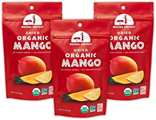 Mavuno Harvest Direct Trade Organic Dried Fruit, Mango, 3 Count