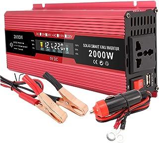 Homyl Power Inverter Pure Sine Wave-1200 Watt 2000w 12V DC para 220V AC Conversor Inversor de carro com isqueiro e display...
