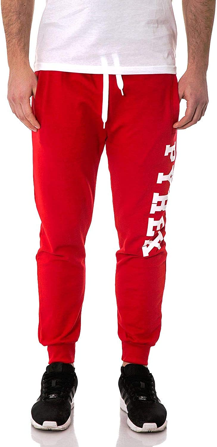 PYREX Men's 33304RED Red Cotton Joggers