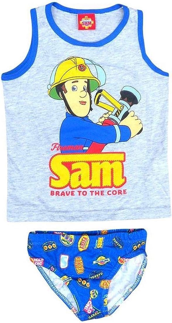 Pariser-Mode Sam Feuerwehr Komplett-Sets Unterw/äsche,f/ür den Jungen mit dem Bild Feuerwehrmann Sam Jungen Herbst winter Baumwolle Slip /& Hemd