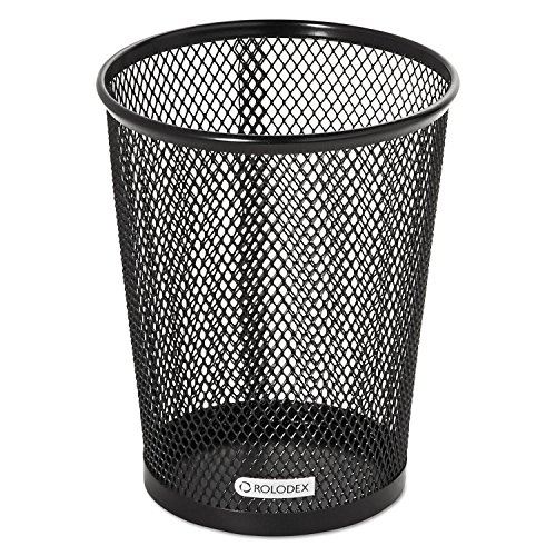 Rolodex 62557 Nestable Jumbo Wire Mesh Pencil Cup 4 3/8 Dia. x 5 2/5 Black