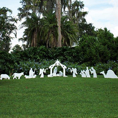 Teak Isle Christmas Outdoor Complete Nativity Scene - Standard