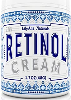 LilyAna+Naturals Retinol Cream Moisturizer for Face and Eyes, Use Day and Night - 1.07 OZ