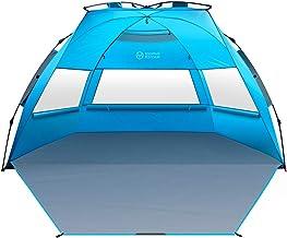 چادر ساحل OutdoorMaster Pop Up Beach XL - نصب آسان ، قابل حمل 3-4 نفر از سایه های ساحل بلند تاشو پناه آفتاب تاشو با UPF 50+ UV