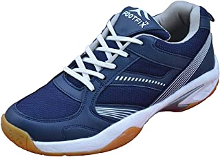 Footfix Spectrum Unisex (Non Marking) PU Badminton Shoes Navy Size 8