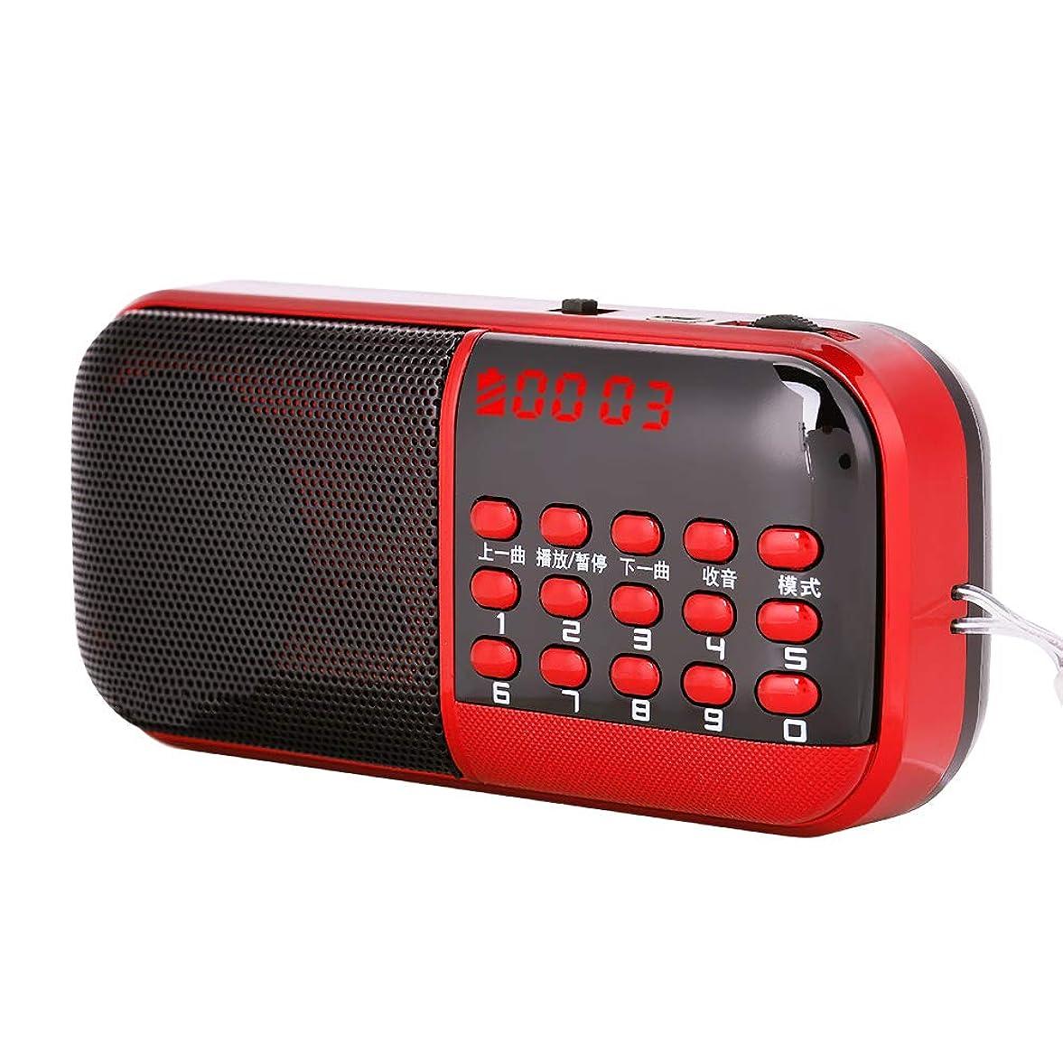 提出するアンソロジー失業者FMラジオ Acouto 87.5-108MHz ミニ ポータプル デジタル ラジオ ノイズキャンセリングサウンド HiFiサウンド 長時間再生 お年寄り用ラジオ