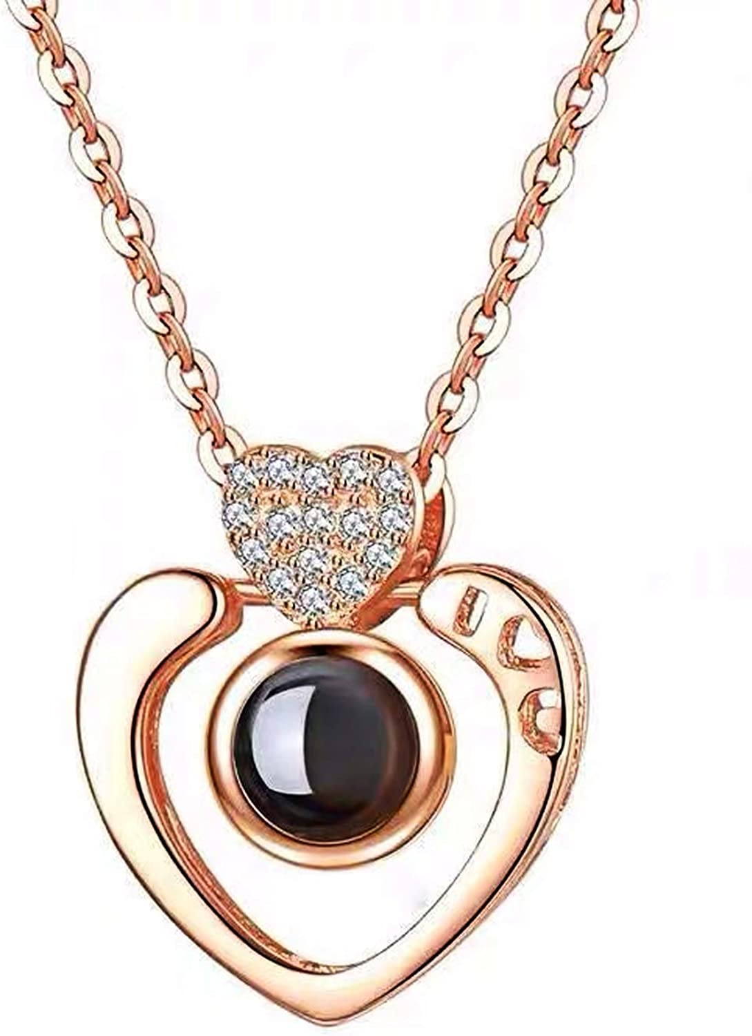 YOUFENG Mom Cheap super special price Necklace Gift for Mother Heart Birthsto Love Japan's largest assortment Crystal