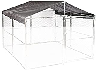 WeatherGuard Universal Extra Large All Season Waterproof Dog Kennel Cover & Roof - For ALL 10ft. X 10ft. Outdoor Cages and Pens