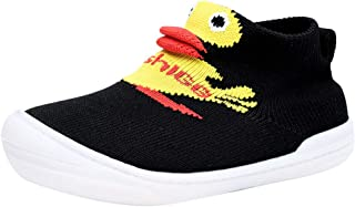 Hopscotch Baby Boys Mesh Cartoon Print Slip Ons in Black Color
