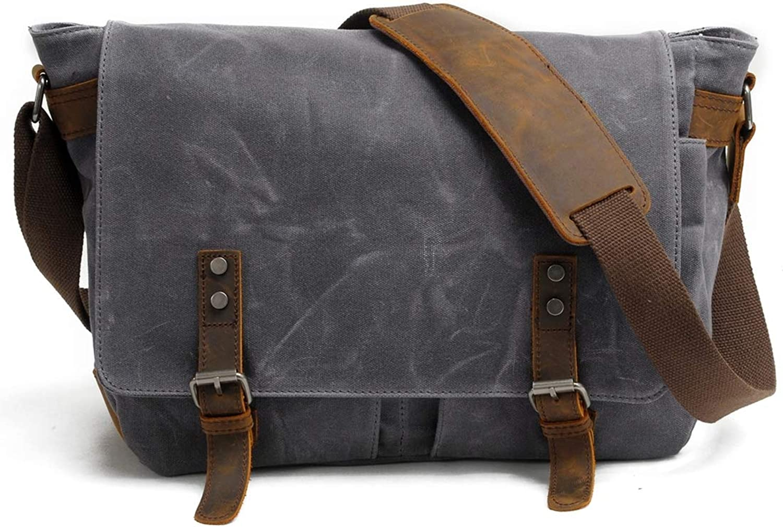 ba9ba3a10 Shoulder Bag, Men's Bag, 16inch Military Canvas Laptop Bag Suitable ...