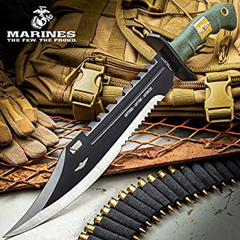 United Cutlery USMC Marine Force Recon Giant Bowie Knife and Sheath