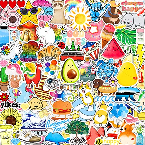 ANERZA 100 PCS Stickers Packs, Cute Vsco Aesthetic Vinyl Stickers for Hydroflask Water Bottles Laptop Computer Skateboard, Waterproof Sticker for Kids, Toddlers, Teen Girl Gifts, Easter Basket Stuffer