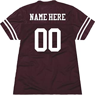 Personalized Name Number Jersey for Women: Ladies Relaxed Fit Mesh Football Jersey