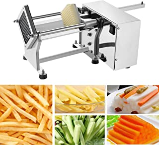 Electric Potato Cutter - Automatic French Fries Cutter Slicer Stainless Steel Potatoes Cucumbers Carrots Cutting Machine Fries Chips Maker with 3 Sizes Blade Mould