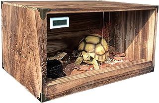 YCDJCS Pet Breeding Box Wooden Combination Box Corn Snake Breeding Cabinet Turtle Insulation Box Pet Supplies (Color : Bro...