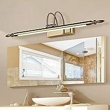 Verstelbare badkamer-wastafellamp met draaibare lampkop, retro spiegel-voorlamp acrylscherm wandlamp badkamerkastverlichti...