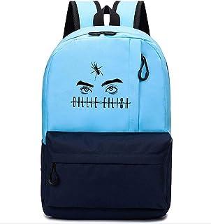 Flyself Billie Eilish Backpack Dual Zipper Laptop Travel Daypack with USB Charging School Students Casual Bag Travel Hiking Daypack Rucksack