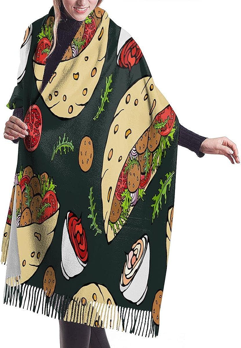 Womens Pashmina Shawl Wrap Flag Of Sicily Island Map Winter Scarf Warm Blanket Long Poncho