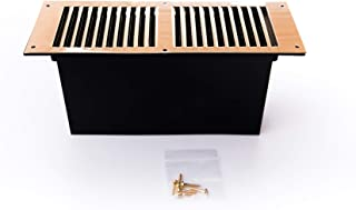 Rytons Building Products FV10BRASS Floor Ventilator with Polished Solid Brass Louvre Grille, Gold