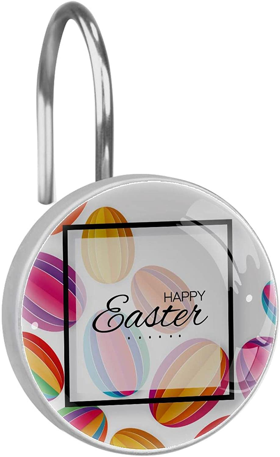 Stainless Steel Anti-rustShower Max 68% OFF Curtain Egg Overseas parallel import regular item Ring Easter Papercut