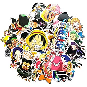 AMA-StarUK36 Anime One Piece Sticker Cartoon Laptop Stickers Waterproof Decal Bumper No-Duplicate Skateboard Pad Car Snowboard Bicycle Luggage Decor 100pcs