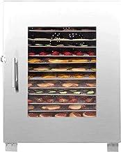 Déshydrateur de nourriture, séchoir à fruits commercial en acier inoxydable à 16 plateaux, avec plateaux en acier inoxydab...