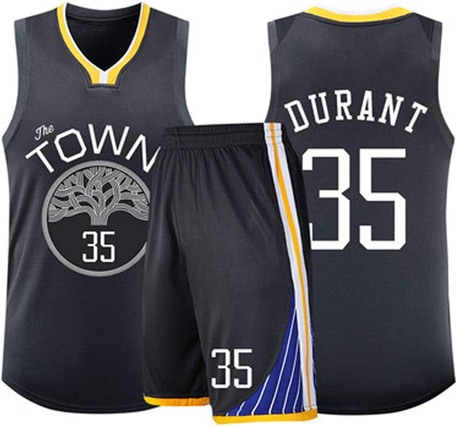 LCBH Basketball Kleidung-Kevin Durant Stephen Curry 30 35 Golden State Warriors Herren Basketball Replica Jersey Team Jersey